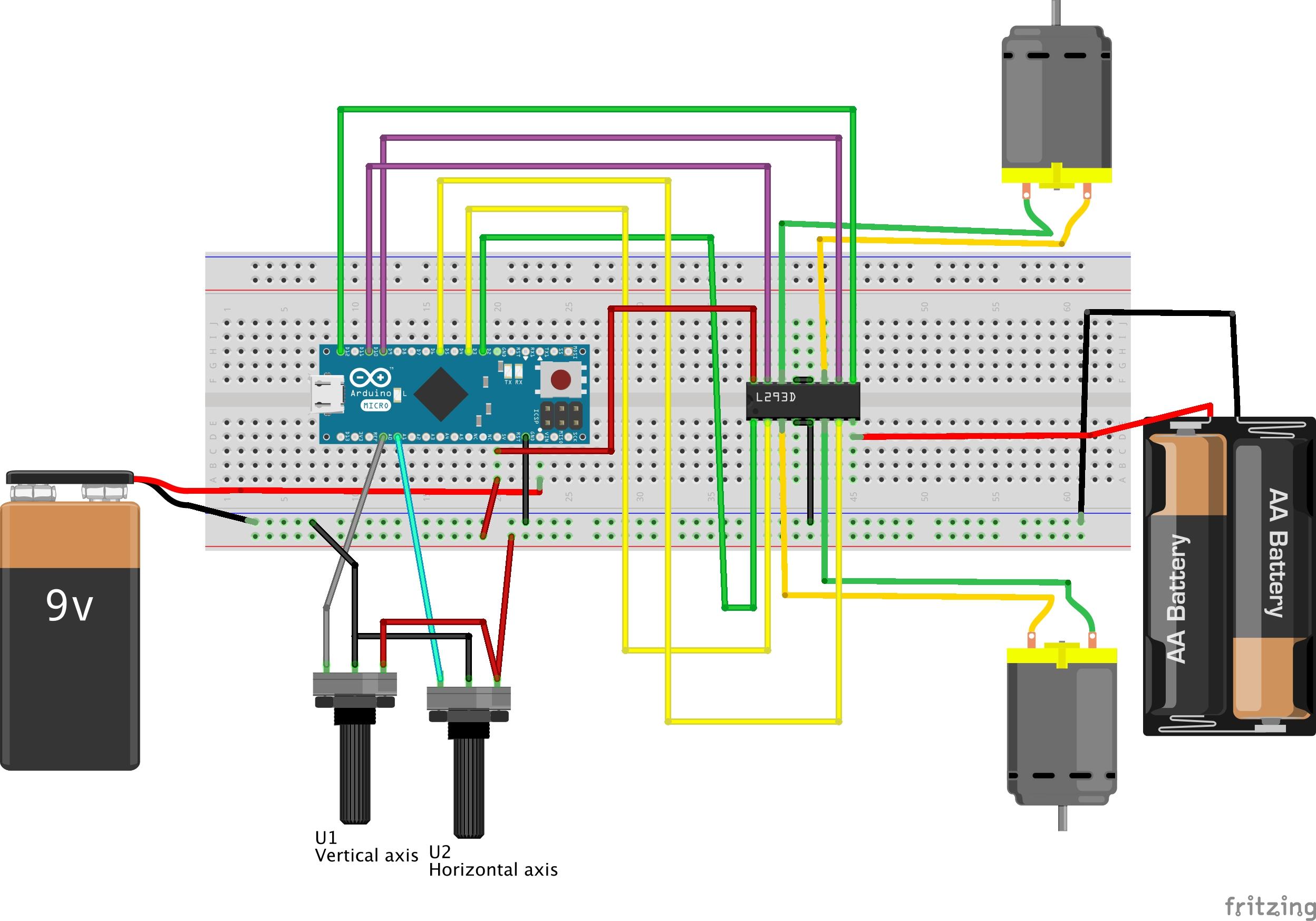Arduino two motor two axis joystick - César Calero Cebrián